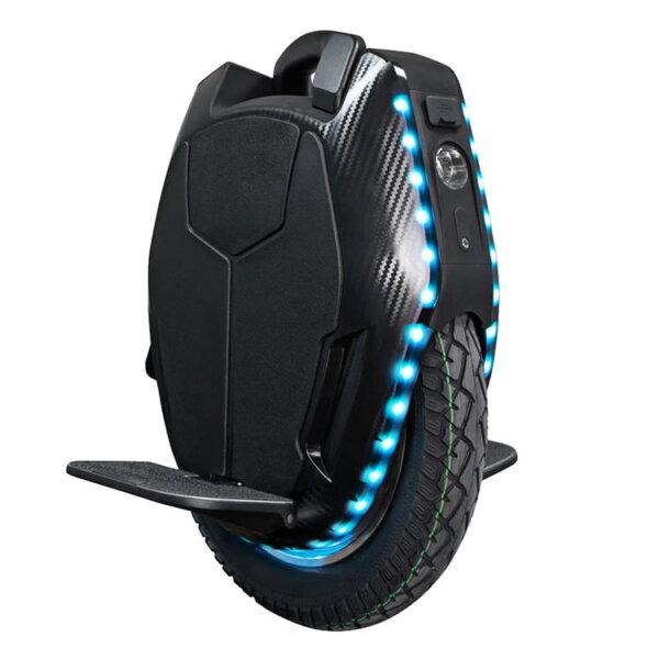 Monociclo eléctrico kingsong 16Χ troley delantera lateral luces - solorueda