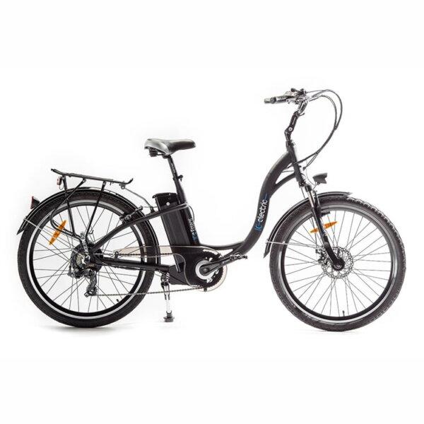 Bicicleta eléctrica ICe essens negra lateral- Solorueda