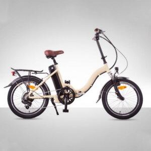 Bicicleta eléctrica blanca lola de 9Transport - Solorueda