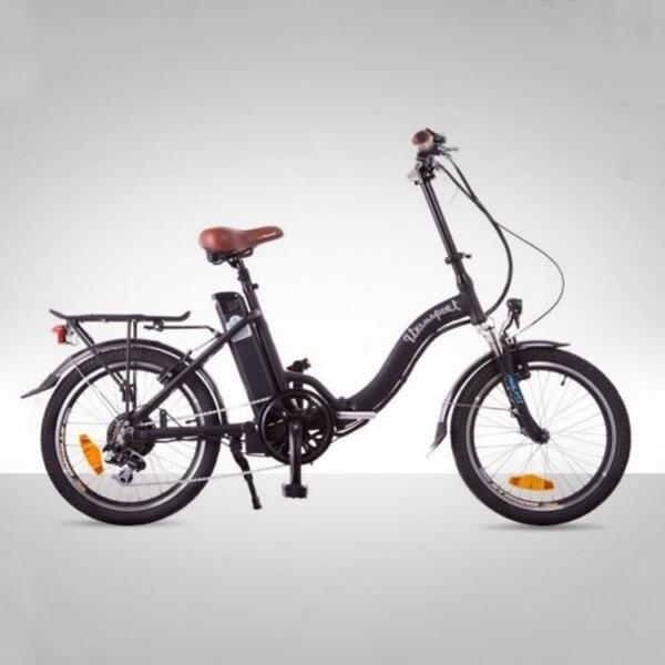 Bicicleta eléctrica negra lola de 9Transport - Solorueda